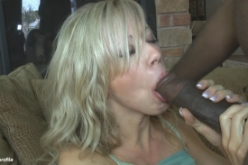 Mandy Monroe sucks cock